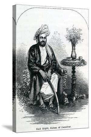 Said Majid, Sultan of Zanzibar--Stretched Canvas Print