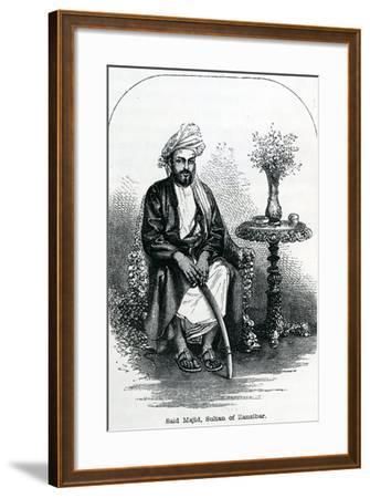 Said Majid, Sultan of Zanzibar--Framed Giclee Print