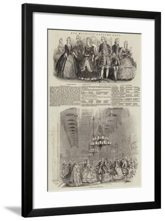 Her Majesty's Costume Ball--Framed Giclee Print