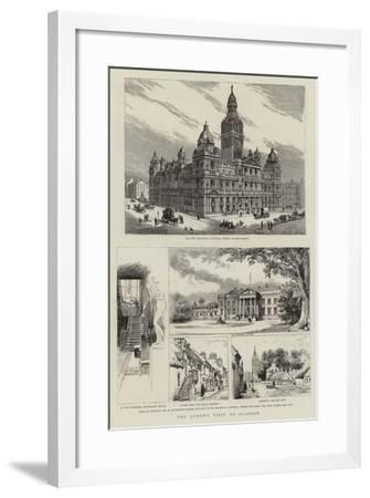A Queen's Visit to Glasgow--Framed Giclee Print