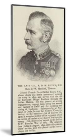 The Late Colonel F D M Brown--Mounted Giclee Print