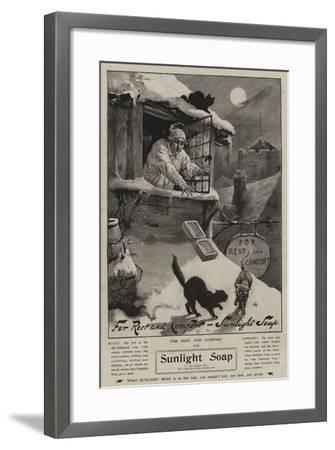 Advertisement, Sunlight Soap--Framed Giclee Print
