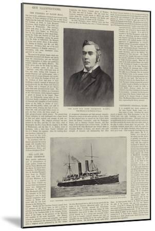 The Late Sir John Thompson--Mounted Giclee Print