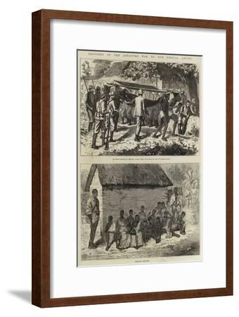 Sketches of the Ashantee War--Framed Giclee Print