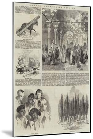Columns from Constantinople--Mounted Giclee Print