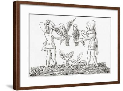 Falconry in the Middle Ages--Framed Giclee Print