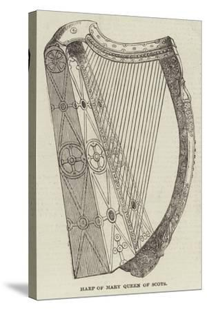 Harp of Mary Queen of Scots--Stretched Canvas Print