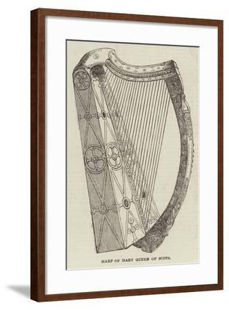Harp of Mary Queen of Scots--Framed Giclee Print