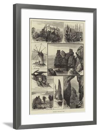 Sketches in the Scilly Isles--Framed Giclee Print
