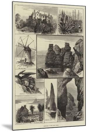 Sketches in the Scilly Isles--Mounted Giclee Print