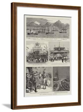 The Queen's Jubilee Abroad--Framed Giclee Print
