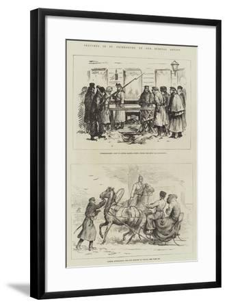 Sketches in St Petersburg--Framed Giclee Print