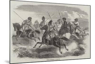 Herat Horsemen at Exercise--Mounted Giclee Print