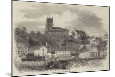 Market Drayton, Shropshire--Mounted Giclee Print