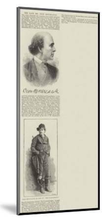 The Late Mr Dion Boucicault--Mounted Giclee Print