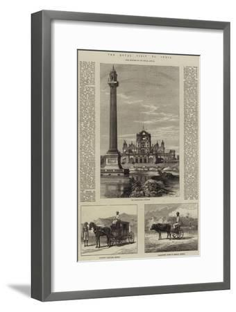 The Royal Visit to India--Framed Giclee Print