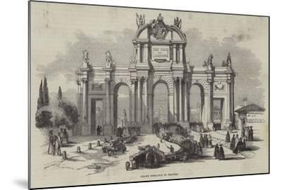 Grand Entrance to Madrid--Mounted Giclee Print
