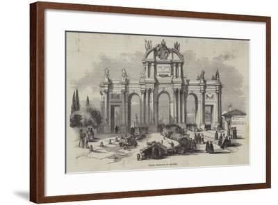 Grand Entrance to Madrid--Framed Giclee Print