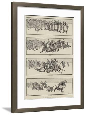 A Pig Hunt in Holland--Framed Giclee Print