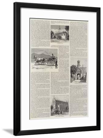 Cape Town Illustrated--Framed Giclee Print