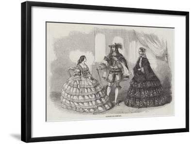 Fashions for February--Framed Giclee Print