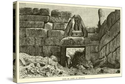 Gate of Lions at Mycenae--Stretched Canvas Print