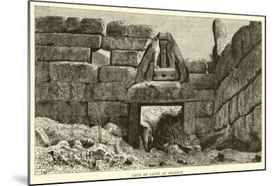 Gate of Lions at Mycenae--Mounted Giclee Print