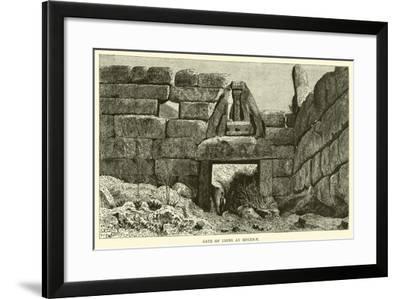 Gate of Lions at Mycenae--Framed Giclee Print