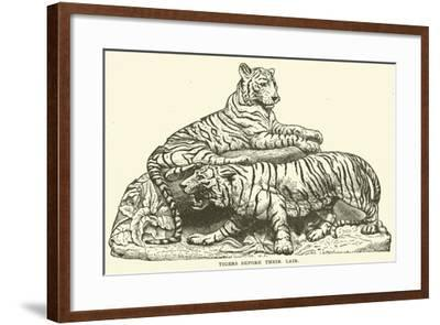 Tigers before their Lair--Framed Giclee Print
