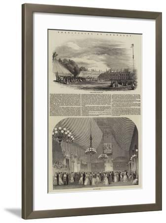 Festivities at Knowsley--Framed Giclee Print