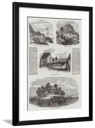 Sketches in Hong Kong--Framed Giclee Print
