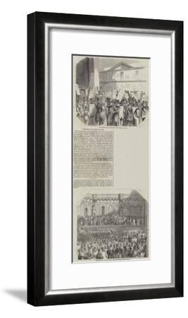 Election of Lord Mayor--Framed Giclee Print