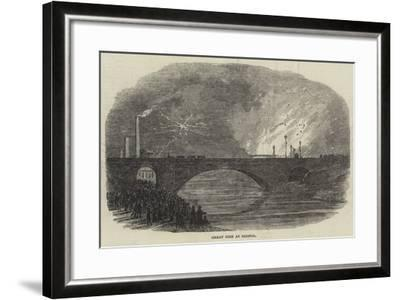 Great Fire at Bristol--Framed Giclee Print