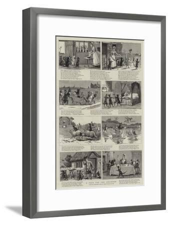 A Page for the Children--Framed Giclee Print