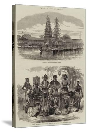Prince Alfred in Ceylon--Stretched Canvas Print