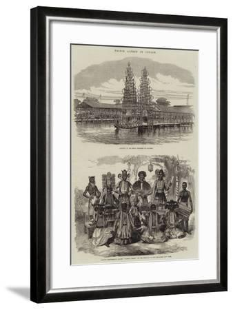 Prince Alfred in Ceylon--Framed Giclee Print