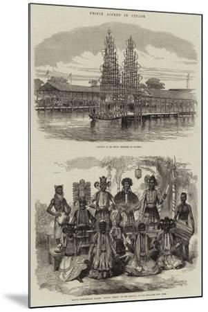 Prince Alfred in Ceylon--Mounted Giclee Print