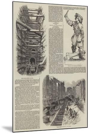The Fleet Street Sewer--Mounted Giclee Print