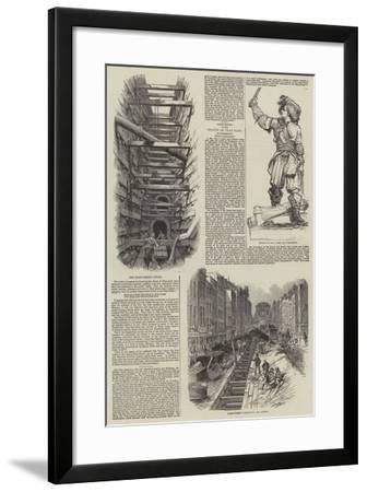 The Fleet Street Sewer--Framed Giclee Print
