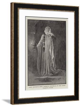 Macbeth at the Lyceum--Framed Giclee Print