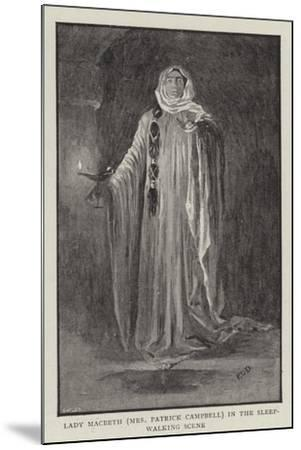 Macbeth at the Lyceum--Mounted Giclee Print