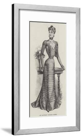 An Autumn Indoor Gown--Framed Giclee Print