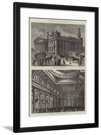 Manchester Illustrated--Framed Giclee Print
