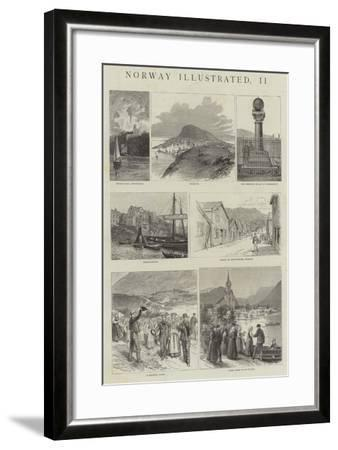 Norway Illustrated--Framed Giclee Print