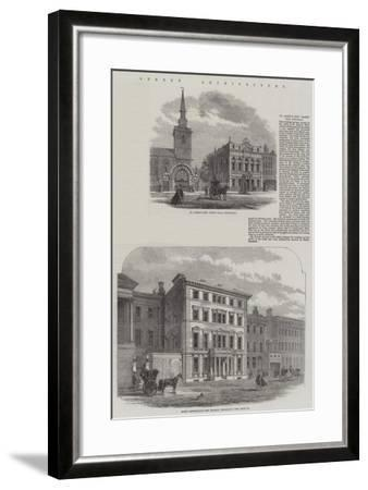 Street Architecture--Framed Giclee Print