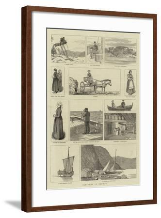Sketches in Norway--Framed Giclee Print