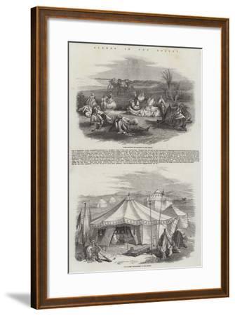 Scenes in the Desert--Framed Giclee Print