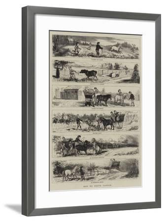 How We Drove Tandem--Framed Giclee Print