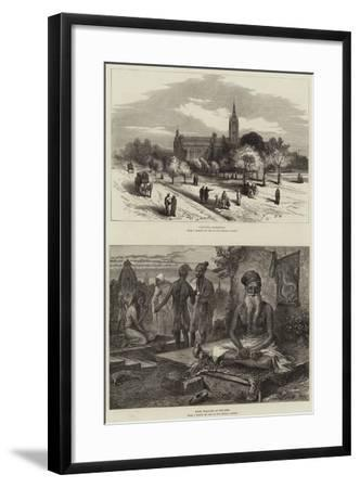 Sketches in India--Framed Giclee Print