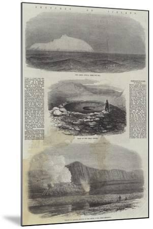 Sketches of Iceland--Mounted Giclee Print